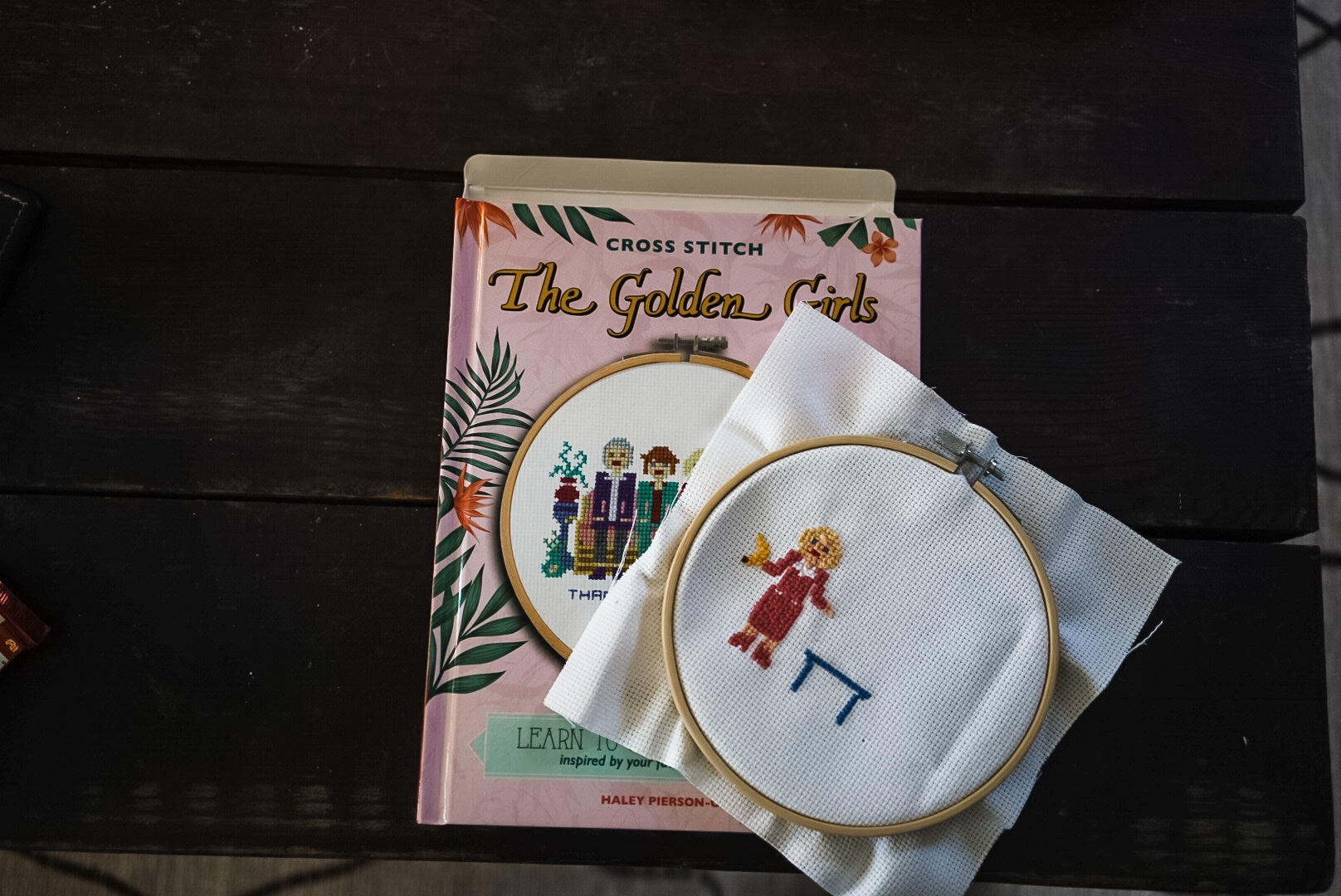 Crossstitch picture of Golden Girls.