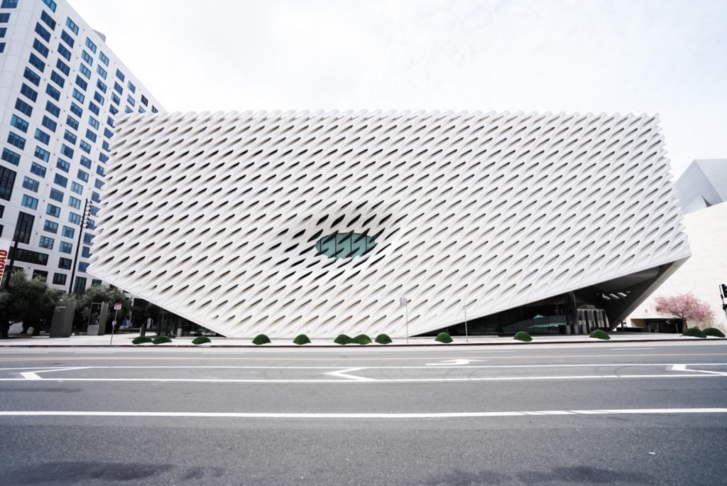 The Broad Museum. Streets Empty. No people.