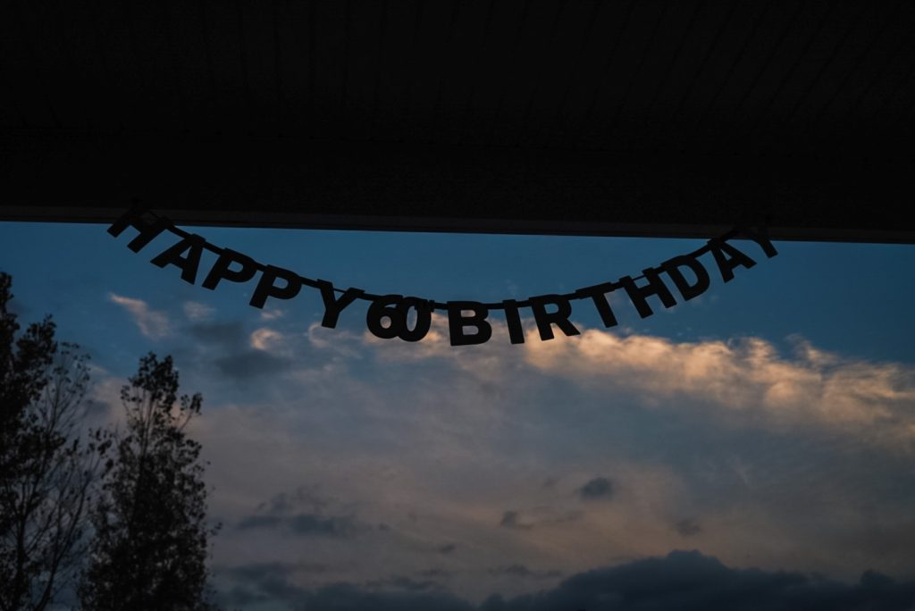 Sign that reads Happy 60th Birthday
