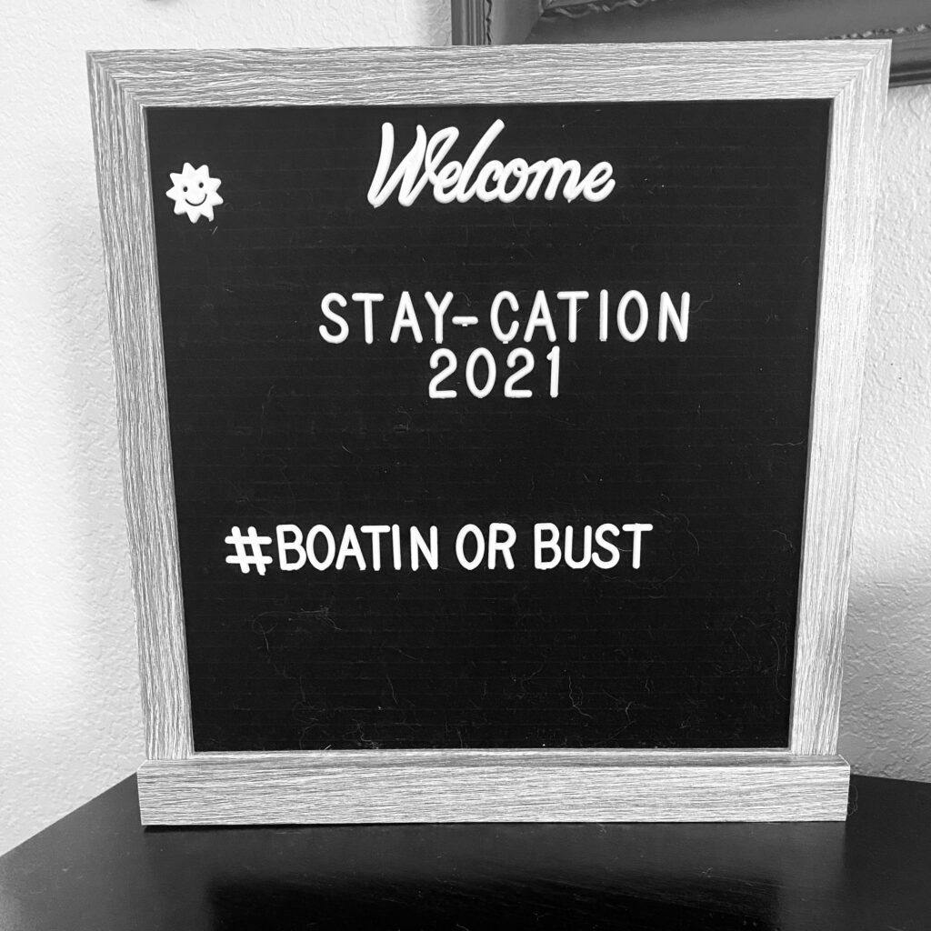 Reads stay-cation 2021 Boatin Or Bust
